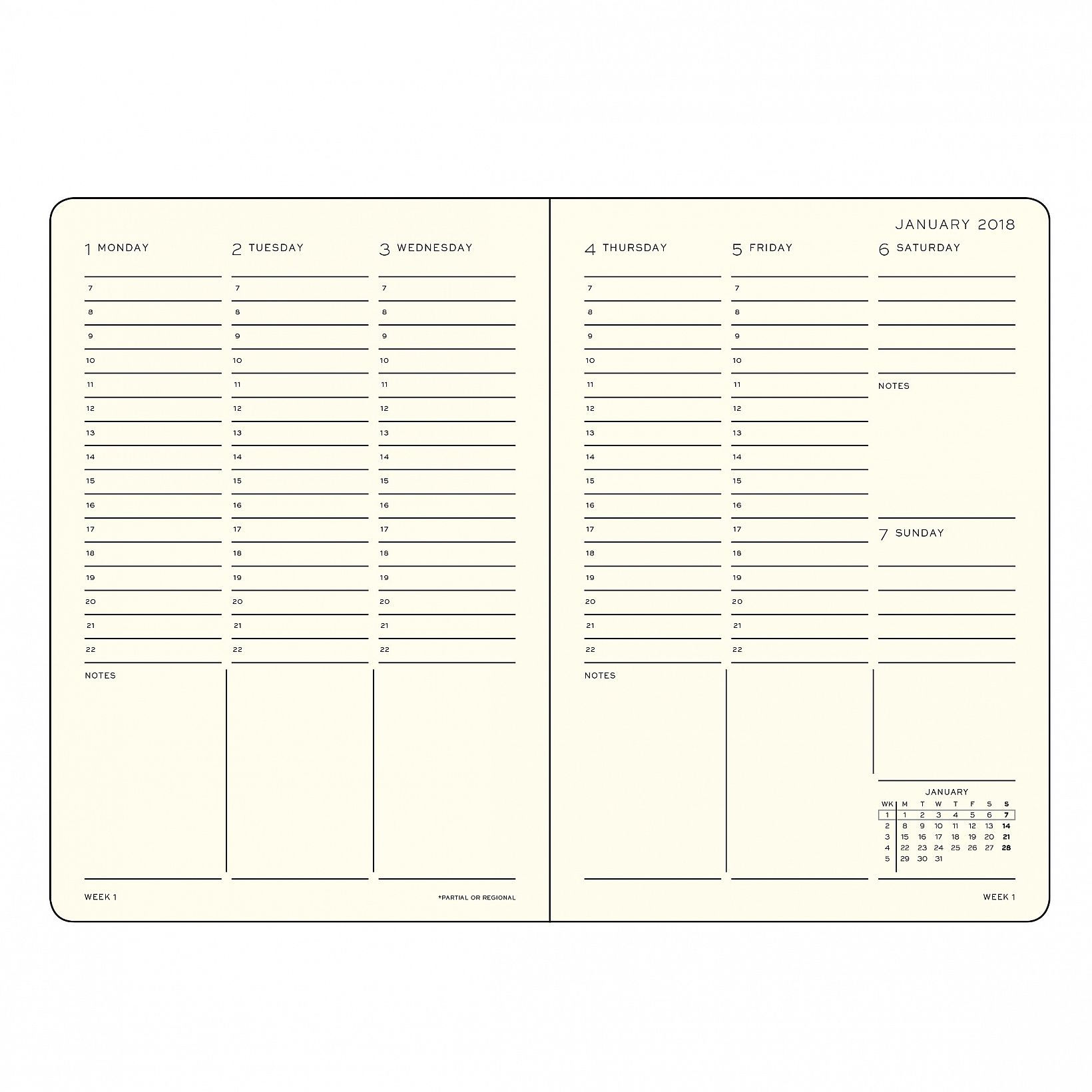 Image result for leuchtturm weekly planner english